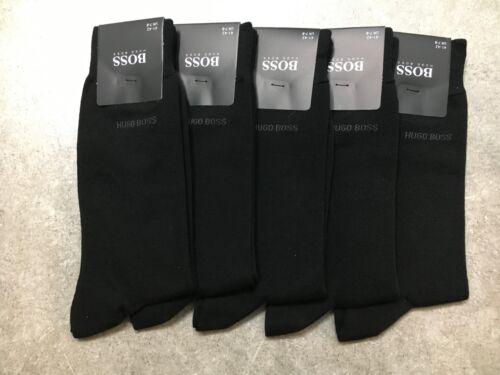 New 5 PAIRS HUGO BOSS Men/'s BLACK COLOR US Size 7-9