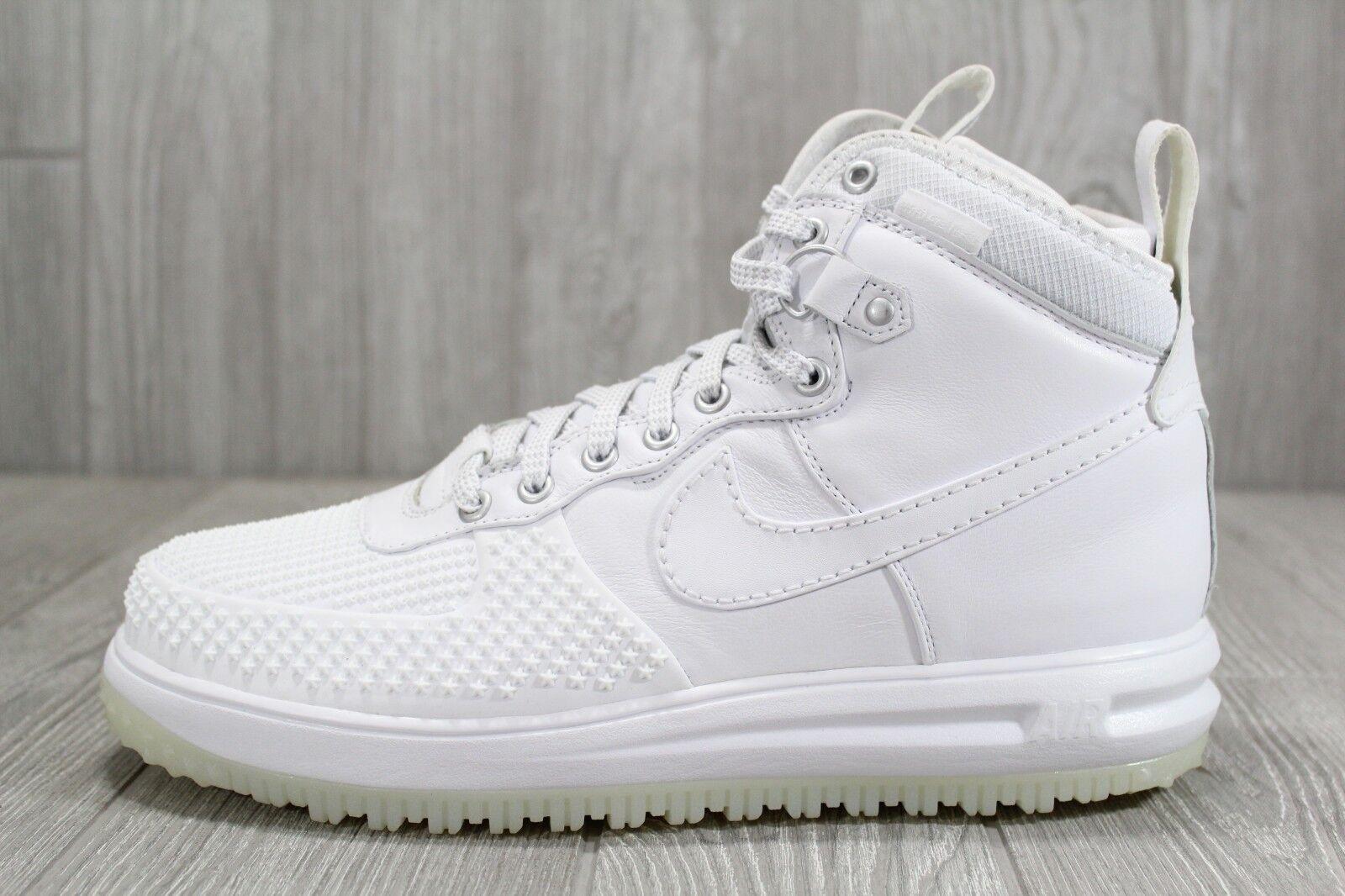 37 Nike Lunar Force 1 Duckboot 805899 101 Triple White shoes Mens Size 11 13