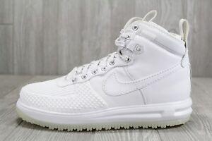 37 Nike Lunar Force 1 Duckboot 805899 101 Triple White Shoes Mens ... 015c7ee76d9c