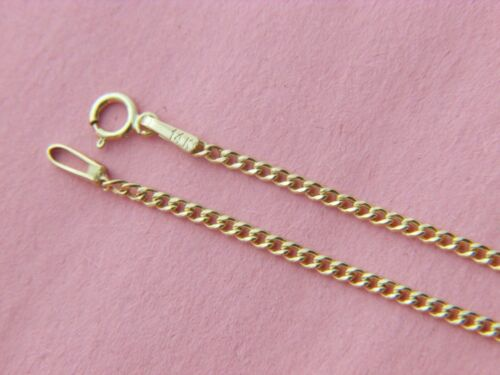Solid 14k Yellow Gold Cuban Curb Link Chain Necklace 1.75mm Made in Italy