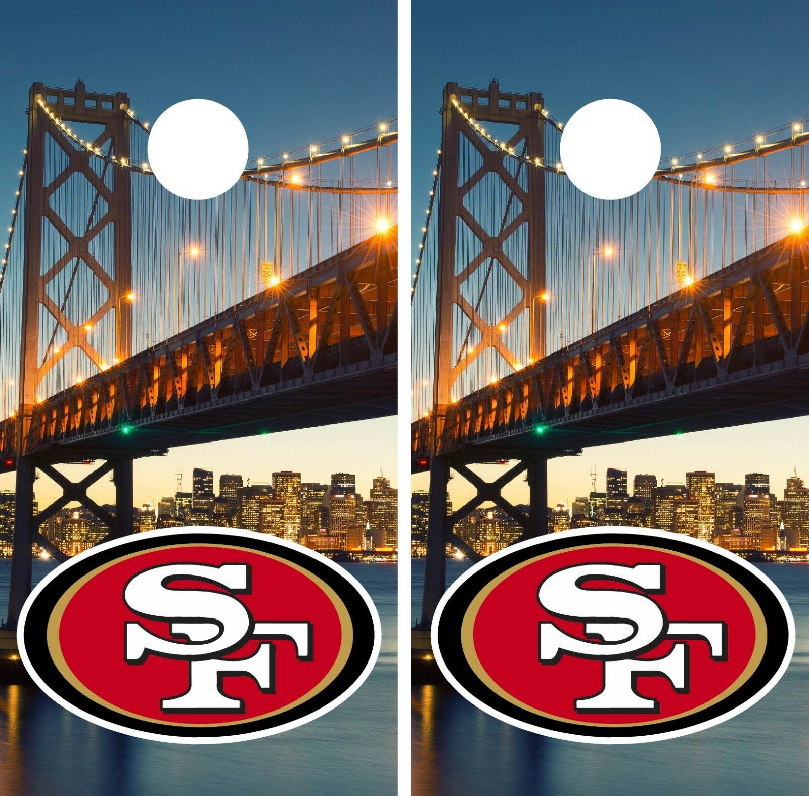 San Francisco 49ERS  Cornhole Wrap NFL Bridge Game Skin Board Set Vinyl Art CO112  with cheap price to get top brand