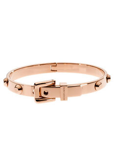 Image Is Loading Michael Kors Astor Stud Belt Buckle Rose Gold