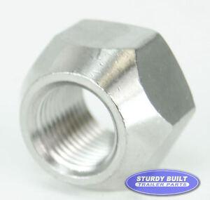 trailer zinc lug nut standard utilty trailer nuts half in by 20 tread wheel nuts