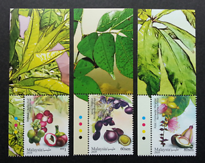 SJ-Malaysia-Medicinal-Plants-IV-2018-Fruits-Food-Flower-stamp-color-MNH