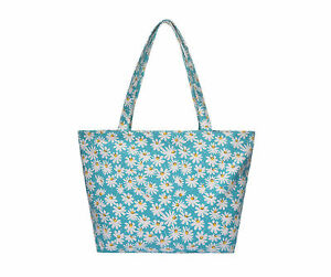 Diasy-Print-Canvas-Shoulder-Tote-shopping-bag-mothers-day-birthday-gift-ladies