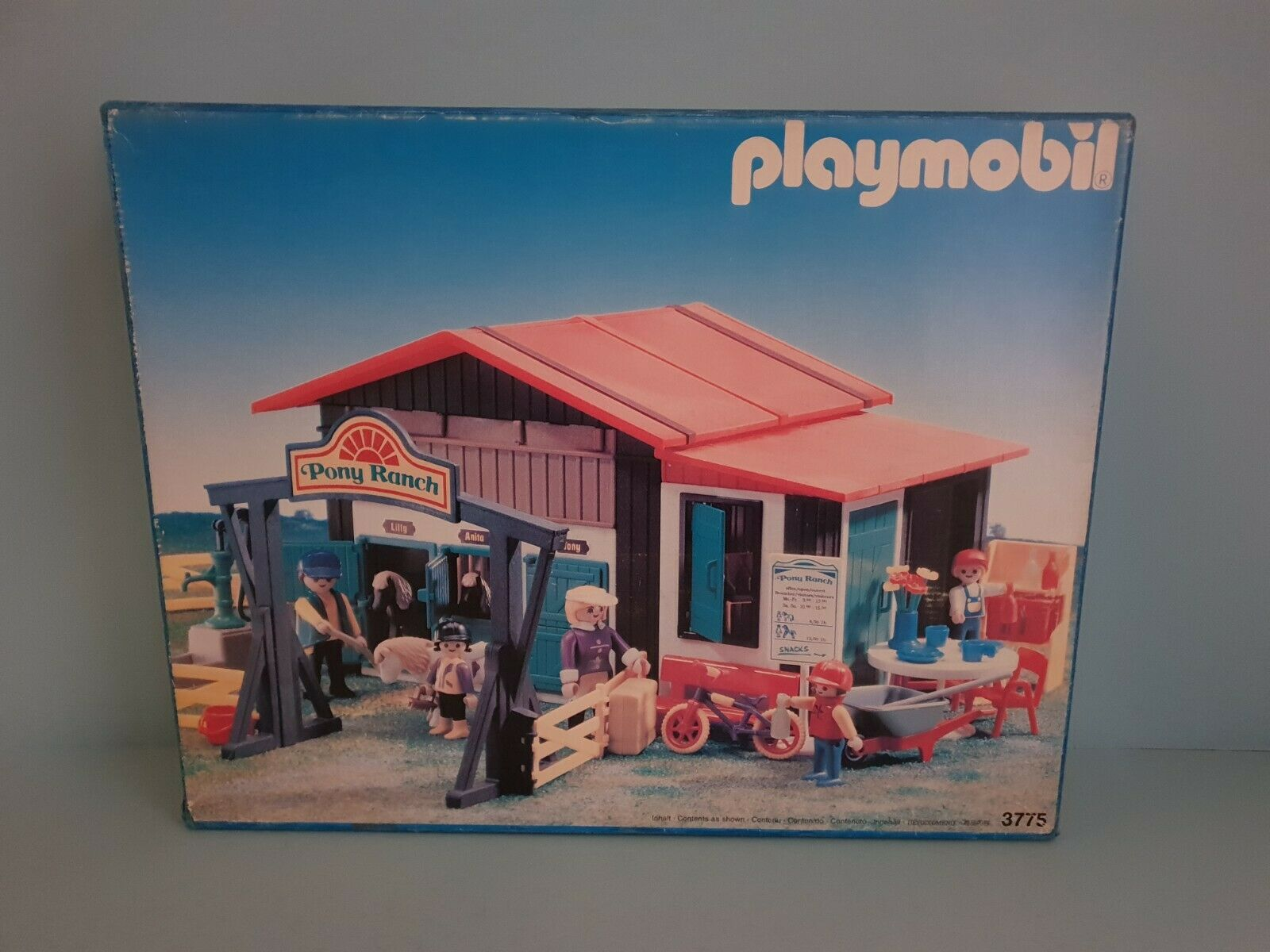 Playmobil 3775 Pony Ranch OVP Vintage Rare