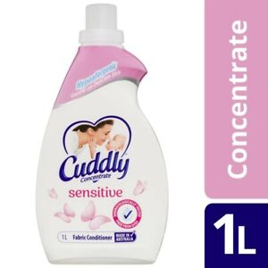 NEW Cuddly Concentrate Hypoallergenic Soft & Sensitive Fabric Conditioner 1L