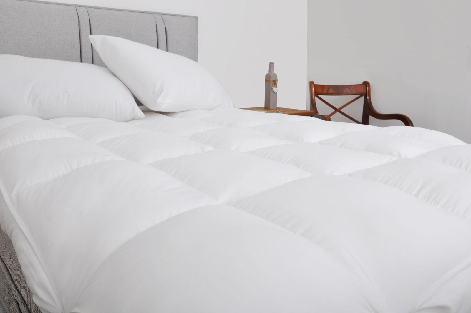 4 Inch 10cm Extra Deep Ultra Soft Mattress Topper Pure Cotton Casing - UK MADE
