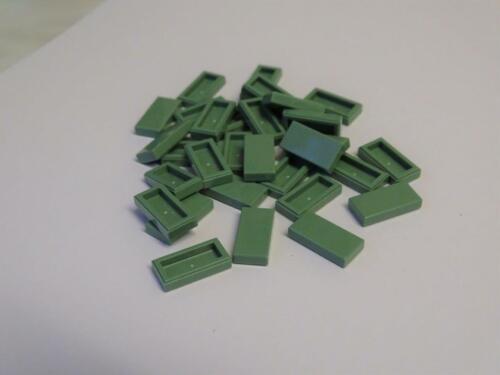 Lego 30 Pieces 1x2 Light Green Tile 3069 Star Wars//Caste//Fort//Harry Potter