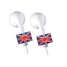 2 x APPLE iPOD/iPHONE/iPAD EARPHONE-EARBUDS *BLING* ACCESSORIES - U.K FLAG
