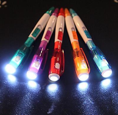 Cute Creative Stationery 5pcs/lot Novelty Office LED Press Ballpoint Pen U130