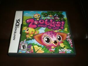 Zoobles-Spring-To-Life-Nintendo-DS-Video-Game-Free-Shipping-Case-Manual-Game