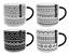 Set-of-4-Extra-Large-Bone-China-Mugs-Stackable-Geometric-Print-Black-amp-Grey thumbnail 1