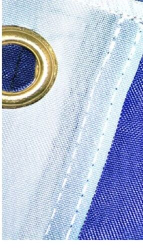 Hard Wearing Best Quality 100/% Plain Blue Nylon Flag Large 5 x 3 FT