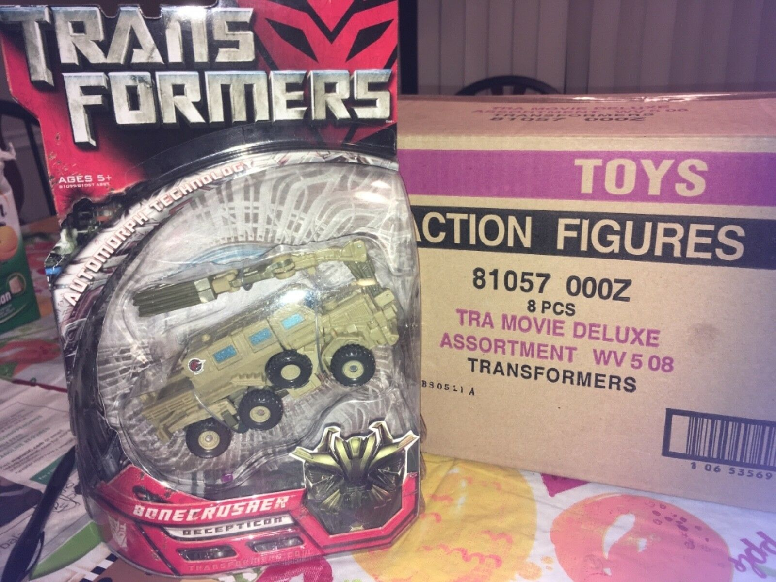 Transformers 2007 Hasbro Deluxe Class Bonecrusher MISB From Factory Box