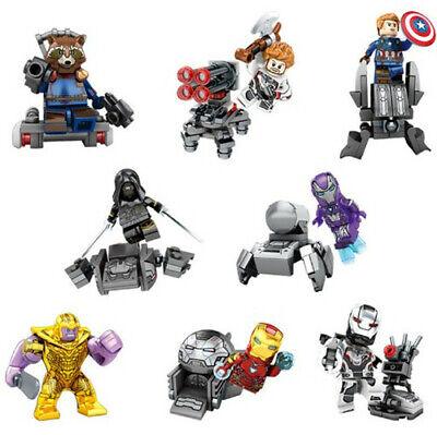New 8stk Marvel Avengers DC Superheld Mini Figurenset Passend für LEGO