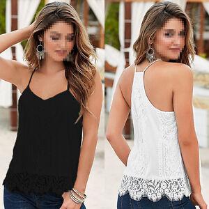 Women-Summer-Lace-Vest-Top-Sleeveless-Blouse-Casual-Tank-Tops-T-Shirt