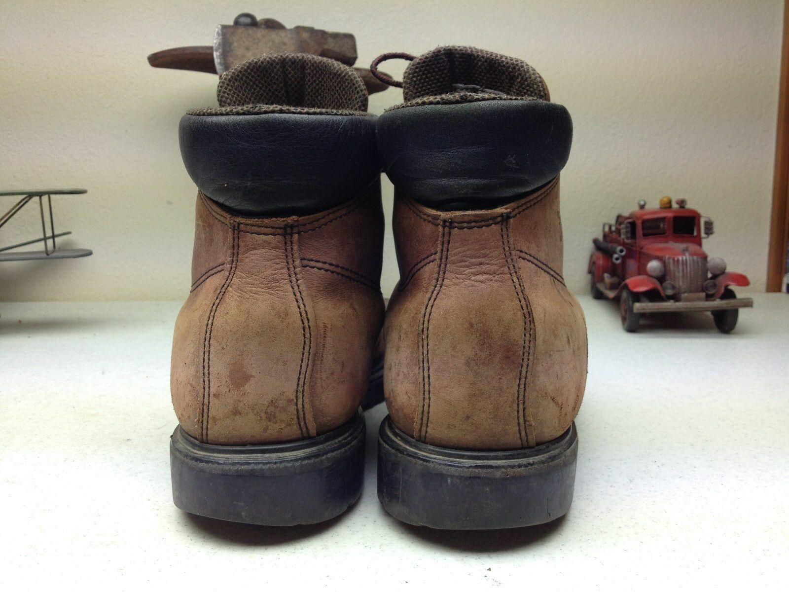 bd6aac18c90f55 ... BROWN DISTRESSED MADE IN A RED WING LACE UP WORK CHORE DAY CHILLIN   BOOTS 13 ...