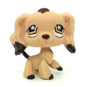 Littlest Pet Shop 575 Lps Tan Cocker Spaniel Dog Puppy Brown Dipped Ears Toys Ebay