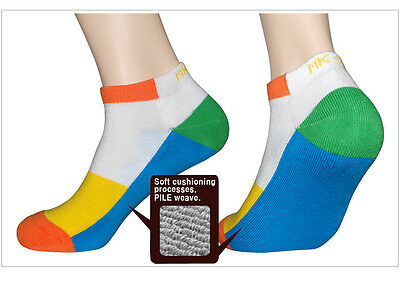 """4 Pairs Womens Ankle Sports Socks LSCP9 /""""Skin contact surface is 100/% cotton/"""""""