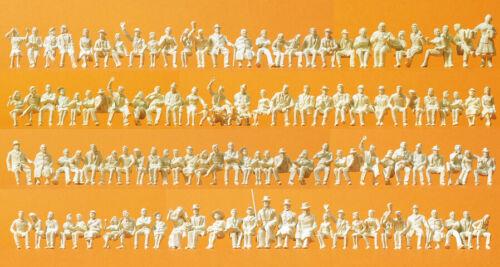 H0 120 Non Dipinte Figure Preiser 16328 Persone Sedute