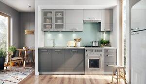 kuche grau matt, küche 240cm schränke, küchenzeile mdf hellgrau matt mocca grau, Design ideen
