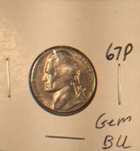 1967 P Jefferson Nickel Gem BU From original Roll