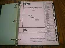 1961 Mopar Lancer Dart Dodge Passenger Car Parts List Catalog - OEM - R Series