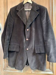 SOVEREIGN-BY-CROSSLEY-Vintage-Mens-Brown-Corduroy-Blazer-Jacket-Sports-Coat