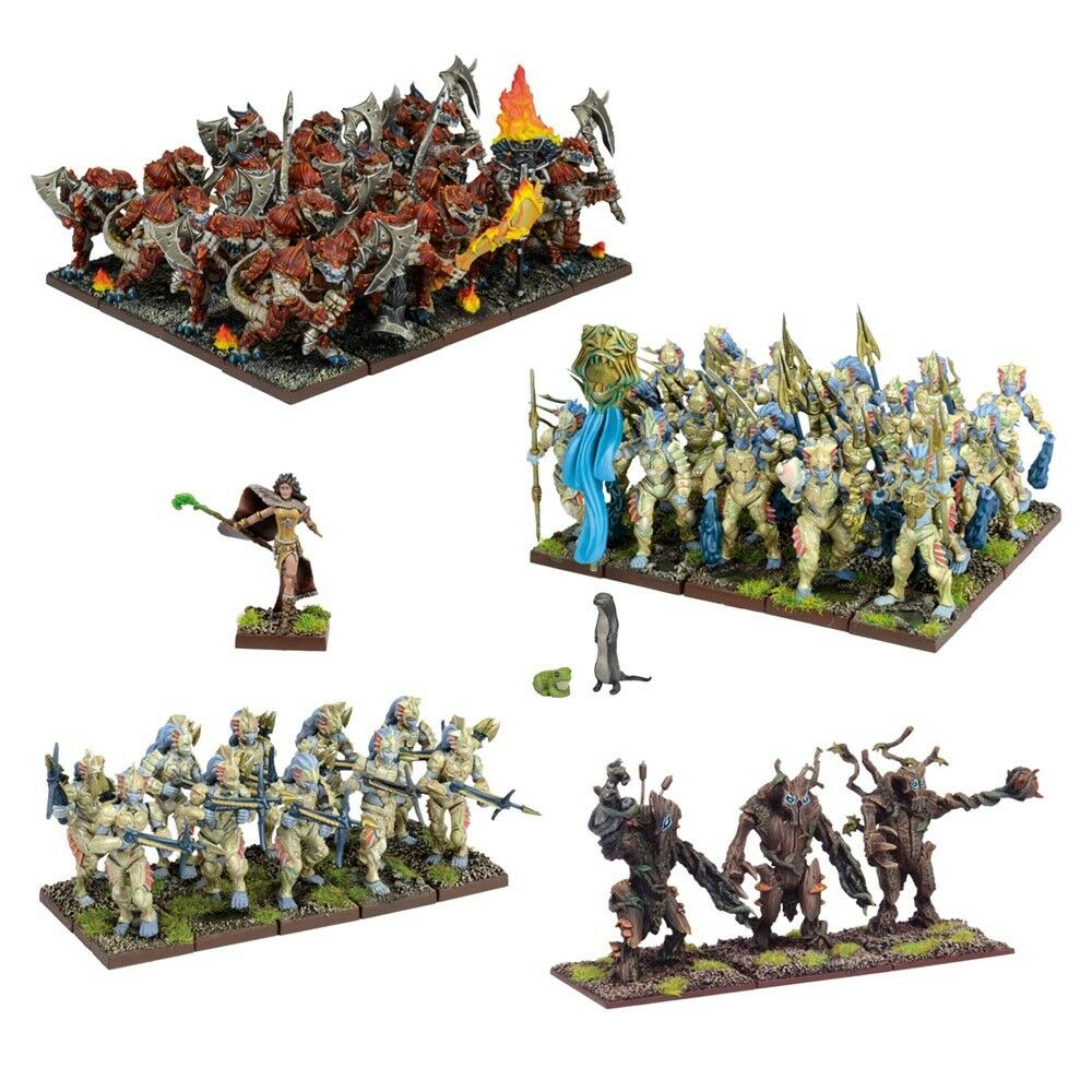 Forces of Nature Army Box Set - Kings of War - 54x Miniatures