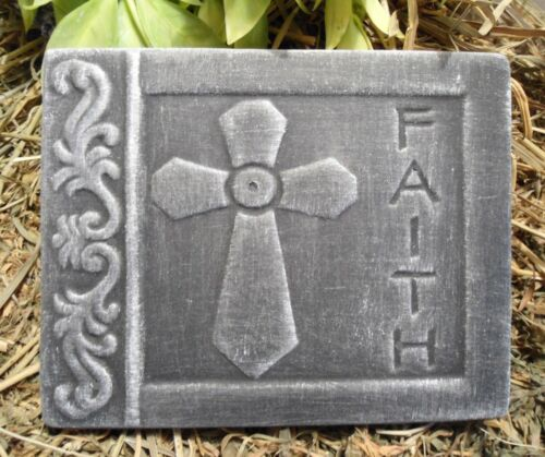 Faith plastic tile mold plaster cement casting home decor religious mould