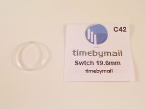 FOR SWATCH WATCH REPLACEMENT GLASS CRYSTAL FITS 19.6mm C42