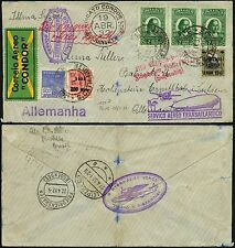 69/Zeppelin Brasilien 1932 3. Südamerikafahrt Brief Joinville Sachsen Si 151 B