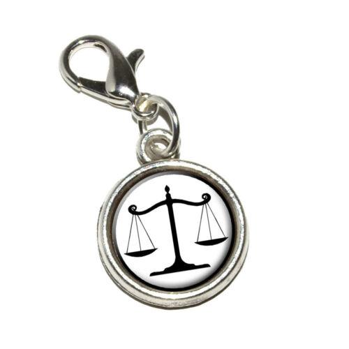 Équilibré scales of justice symbole juridiques avocat Bracelet charme avec homard fermoir