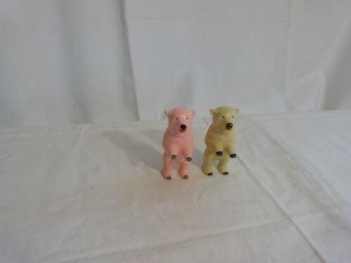 Spielzeug 2x Erkö Spielzeugbären aus der ehmaligen DDR Plastik Teddybär