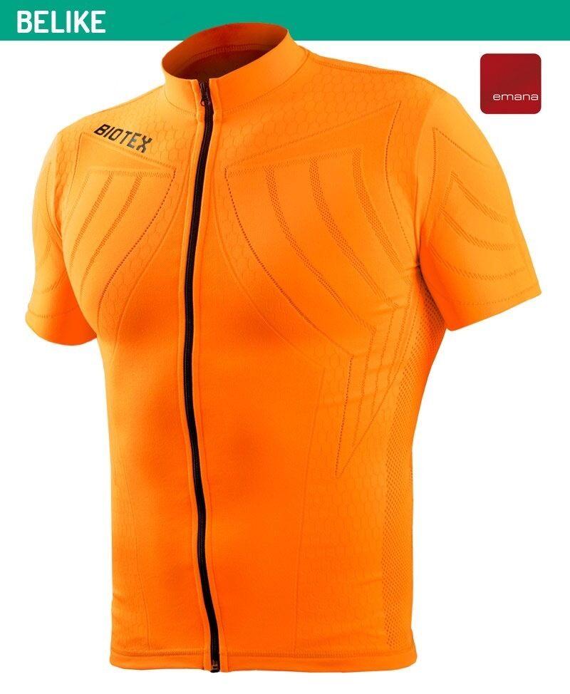 La camisa de piel naranja de biotex BL2 emana, con cremallera, talla I.