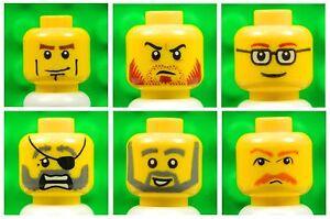 Lego 10 x Minifigure Heads Head Yellow Male Man Boy Joblot Bundle New Lot 2
