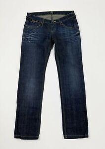 Parasuco-jeans-donna-usato-W28-tg-42-blu-denim-slim-vintage-boyfriend-used-T5610