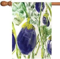 Toland - Watercolor Eggplants - Purple Veggie Vegetable House Flag