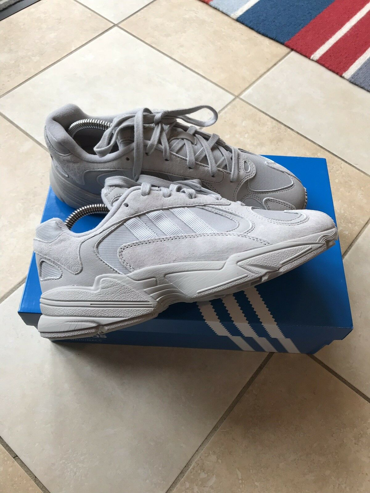 Adidas Yung - 1 Gris Basketsnstuff Exclusive Uk8.5