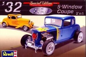 Revell-1932-Ford-5-Window-Coupe-1-25-85-4228-Modele-Plastique-Kit-Voiture