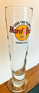 Hard-Rock-Cafe-Honolulu-Hawaii-Beer-Pilsner-9-5-Glass-Free-Priority-Ship