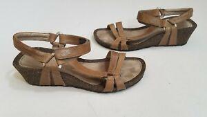 TEVA-Ventura-Beige-Cork-2-Leather-Strap-Wedge-Sandals-Heeled-Women-s-Sz-9-c03