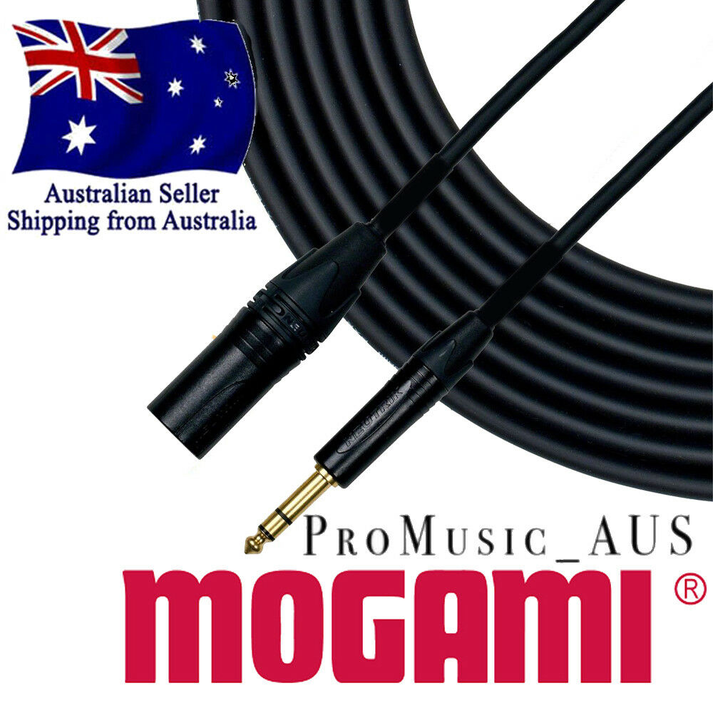 MOGAMI Gold Studio Pro Cable CHOOSE XLR Male or Female TRS Jack or Socket  2534