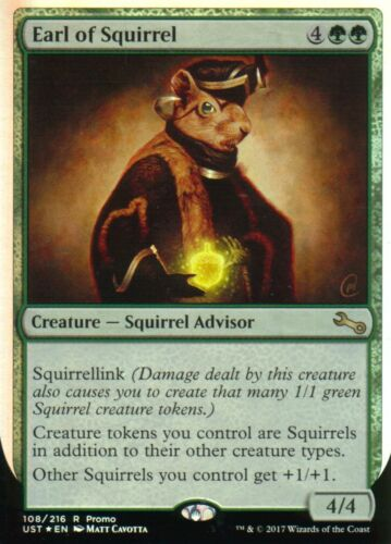 Earl of Squirrel FOILNMRelease PromoMagic MTG