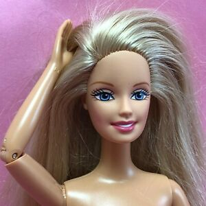 Barbie JOINTED ARM GG CEO Face Nude Blonde Blue GrayEye