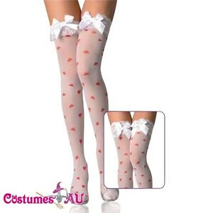 New-Lingerie-Hosiery-White-sheer-thigh-high-Stockings-one-size-fits-more