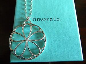 Flower Necklace in Sterling Silver Petal Necklace Handmade in the UK