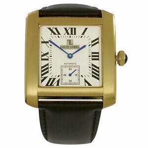 Orologio-Automatico-Doppio-Quadrante-Reversibile-LOUIS-LOBEL-Uomo-Men-039-s-Watch