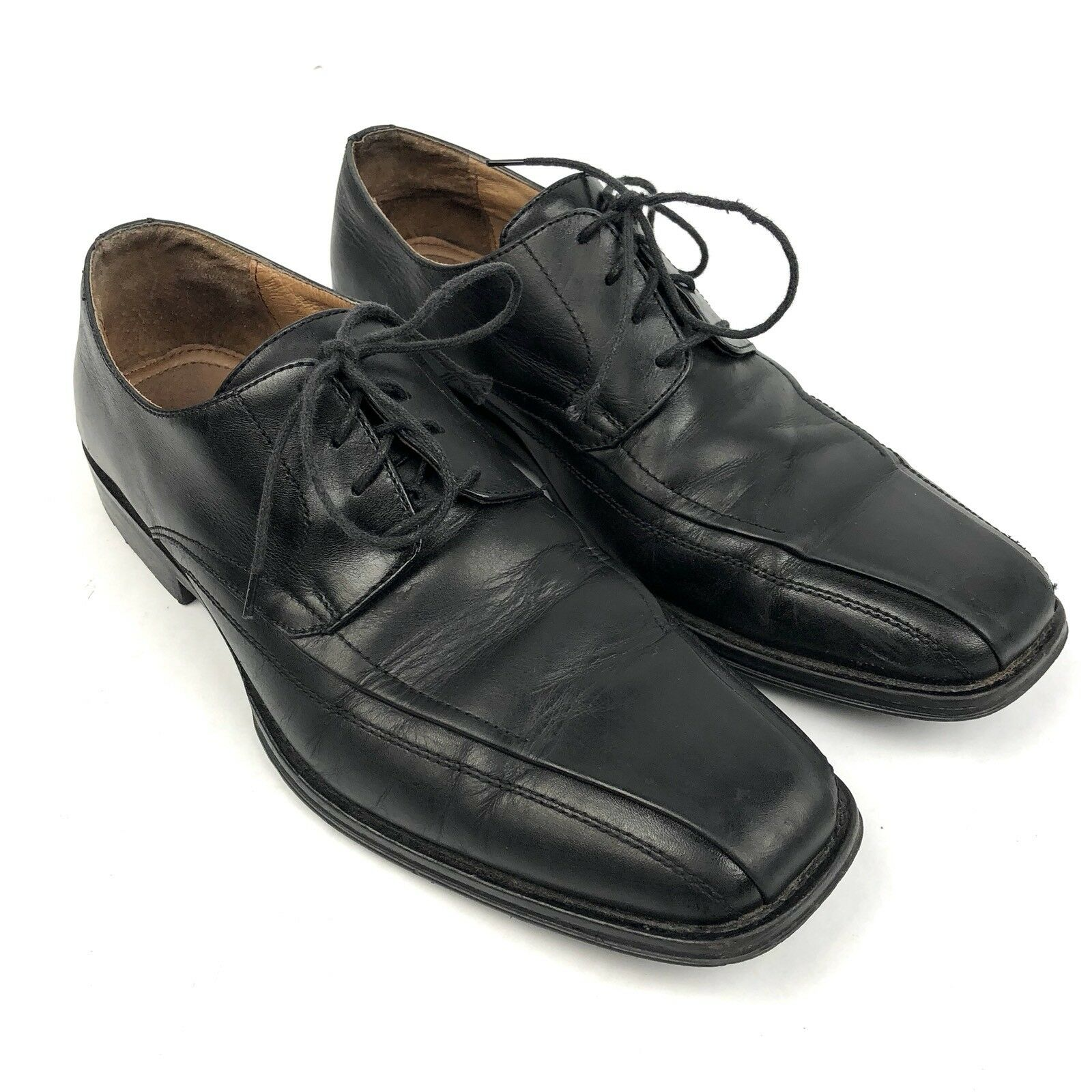 Johnston & Murphy 9.5 D Men's Dress shoes Black Leather Lace Up Oxford